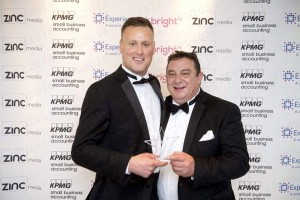 My business partner, Mark Bridger (right), and I claimed an award in the export category at the recent SME Awards, hosted by Zinc Media, in London.